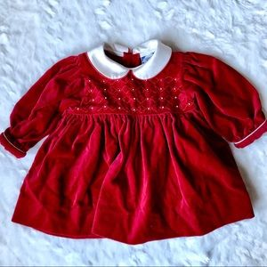 Carriage Boutiques Smocked Baby Christmas Dress 3m